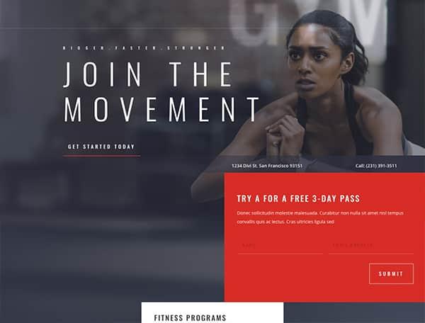 website-Fitness Gym