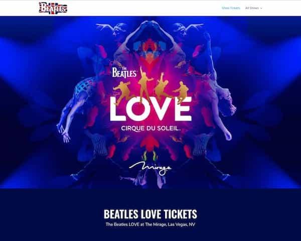 Beatles LOVE — tickets